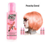 Crazy Color Semi Permanent Hair Color Cream 100ml - Peachy Coral (4pcs) (£2.23/each) CC22
