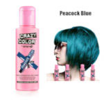 Crazy Color Semi Permanent Hair Color Cream 100ml - Peacock Blue (4pcs) (£2.23/each) CC5