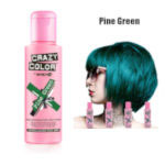 Crazy Color Semi Permanent Hair Color Cream 100ml - Pine Green (4pcs) (£2.23/each) CC7