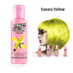 Crazy Color Semi Permanent Hair Color Cream 100ml - Canary Yellow (4pcs) (£2.23/each) CC/21