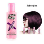 Crazy Color Semi Permanent Hair Color Cream 100ml - Aubergine (4pcs) (£2.23/each) CC6