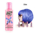 Crazy Color Semi Permanent Hair Color Cream 100ml - Lilac (4pcs) (£2.23/each) CC19