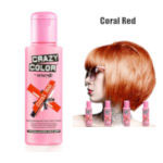 Crazy Color Semi Permanent Hair Color Cream 100ml - Coral Red (4pcs) (£2.23/each) CC9