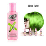 Crazy Color Semi Permanent Hair Color Cream 100ml - Lime Twist (4pcs) (£2.23/each) CC/24