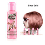 Crazy Color Semi Permanent Hair Color Cream 100ml - Rose Gold (4pcs) (£2.23/each) CC/17