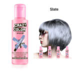 Crazy Color Semi Permanent Hair Color Cream 100ml - Slate (4pcs) (£2.23/each) CC39