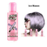 Crazy Color Semi Permanent Hair Color Cream 100ml - Ice Mauve (4pcs) (£2.23/each) CC15