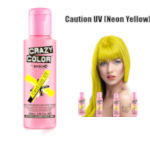 Crazy Color Semi Permanent Hair Color Cream 100ml - Caution UV (4pcs) (£2.23/each) CC/2