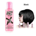 Crazy Color Semi Permanent Hair Color Cream 100ml - Black (4pcs) (£2.23/each) CC38