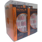 Royal Prestige Collection - 24 Glue on Nail Tips (6pcs) (NNAI250) Passion Stiletto (ROYAL 61a)