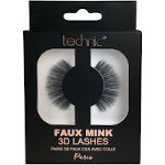 Technic Faux Mink 3D Lashes - Paris (6pcs) (£1.39/each) (29539) C/36d