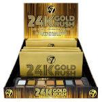 W7 24K Gold Rush Pressed Pigment Palette (6pcs) (3745) (£2.88/each) A/2