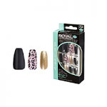 Royal 24 Glue-On Nail Tips - Rock It Coffin (6pcs) (NNAI272) (£1.23/each) ROYAL 18