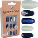 W7 Glamorous Nails - Midnight Dream (12pcs) (GNMD) (£1.85/Each) (8474) W7 NAILS 8