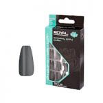 Royal 24 Glue-On Nail Tips - Smokey Grey Coffin (6pcs) (NNAI284) (£1.23/each) ROYAL 168