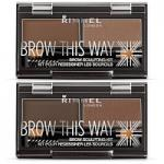 Rimmel Brow This Way Brow Sculpting Kit - 2.4g (Options) R379