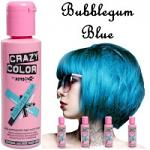 Crazy Color Semi Permanent Hair Color Cream 100ml - Bubblegum Blue (4pcs) (£2.23/each) CC30