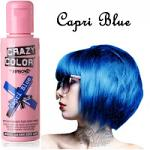 Crazy Color Semi Permanent Hair Color Cream 100ml - Capri Blue (4pcs) (£2.23/each) CC/11
