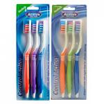 Beauty Formulas Control Action Toothbrushes - 3 Pack (12pcs) (£0.63/each) (2910) BF/71