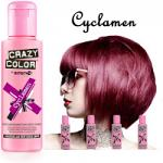 Crazy Color Semi Permanent Hair Color Cream 100ml - Cyclamen (4pcs) (£2.23/each) CC32