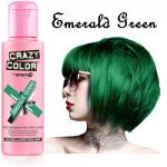 Crazy Color Semi Permanent Hair Color Cream 100ml - Emerald Green (4pcs) (£2.23/each) CC/15