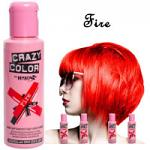 Crazy Color Semi Permanent Hair Color Cream 100ml - Fire (4pcs) (£2.23/each) CC/28