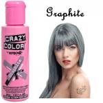 Crazy Color Semi Permanent Hair Color Cream 100ml - Graphite (4pcs) (£2.23/each) CC/5