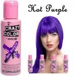 Crazy Color Semi Permanent Hair Color Cream 100ml - Hot Purple (4pcs) (£2.23/each) CC1