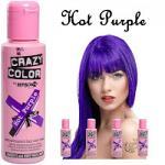 Crazy Color Semi Permanent Hair Color Cream 100ml - Hot Purple (4pcs) (£2.23/each) CC/37