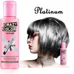 Crazy Color Semi Permanent Hair Color Cream 100ml - Platinum (4pcs) (£2.23/each) CC/9