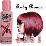 Crazy Color Semi Permanent Hair Color Cream 100ml - Ruby Rouge (4pcs) (£2.23/each) CC/4