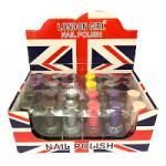 London Girl Glitter Nail Polish Tray (24pcs) (6221) (£0.35/each)